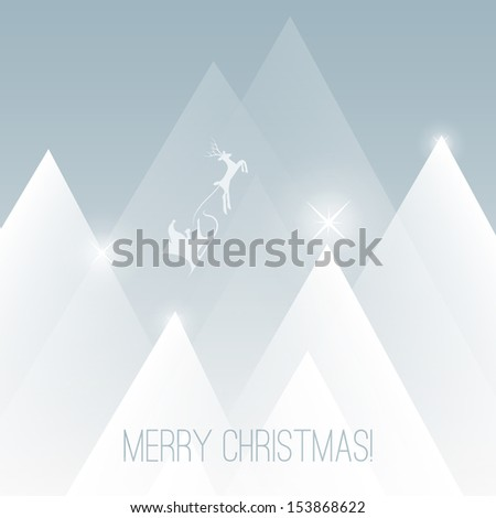 Merry Christmas Card | Vector Background Illustration - stock vector