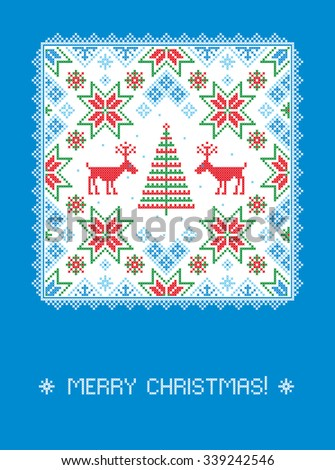 Merry Christmas card. Vector illustration.