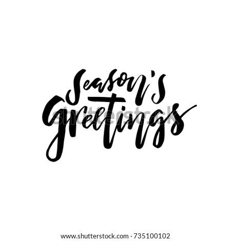 Merry christmas card calligraphy seasons greetings stock vector merry christmas card with calligraphy seasons greetings template for congratulations housewarming posters stopboris Choice Image
