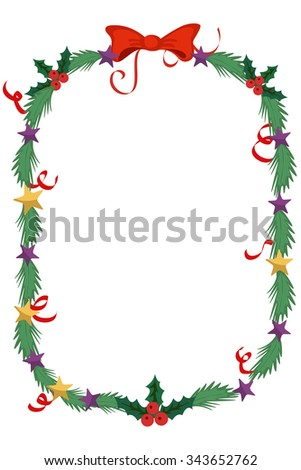 Merry Christmas celebration border and decoration frame in vector