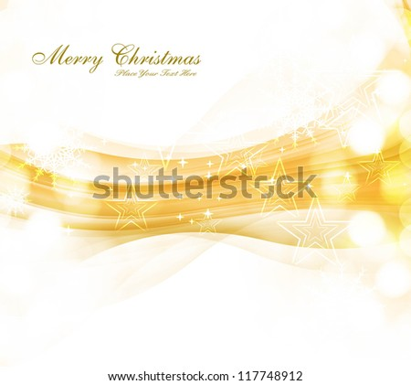 merry christmas celebration colorful wave card background vector - stock vector