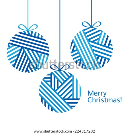 Merry Christmas. Christmas card. Congratulation. Happy New Year. Vector illustration.