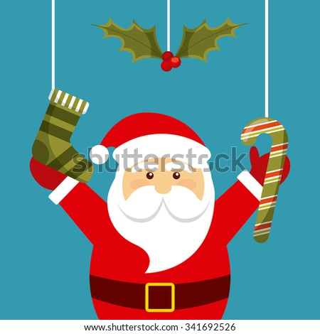Merry Christmas concept with decoration icons design, vector illustration 10 eps graphic - stock vector