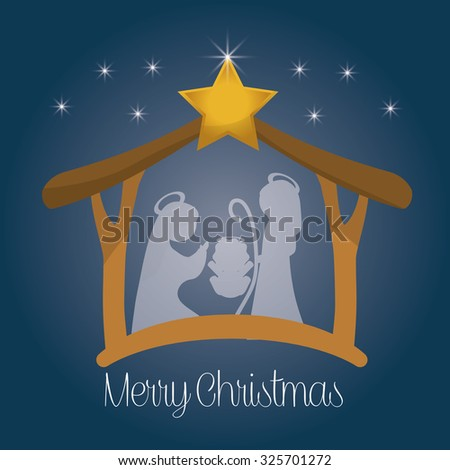 High Detail Vector Nativity Christmas Scene Stock Vector 714913399 ...