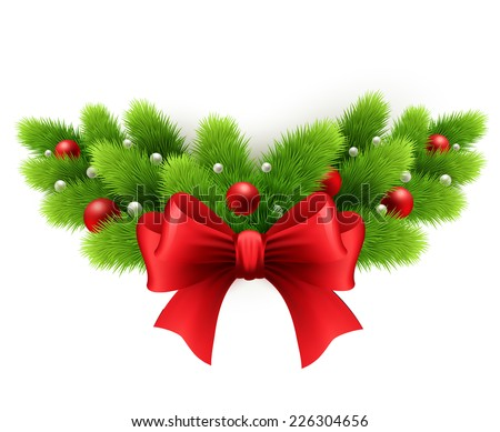 Merry Christmas decoration - stock vector