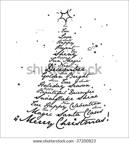 Merry Christmas Design. Vector. - stock vector