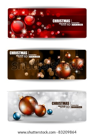 Merry Christmas Elegant Suggestive Background for Greetings Card or Advertising Banners - stock vector