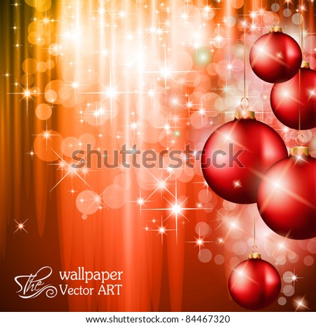 Merry Christmas Elegant Suggestive Background for Greetings Card with complete seamlessly vintage background fully editable. - stock vector