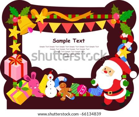 merry christmas frame - stock vector