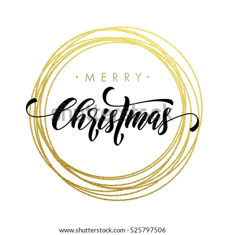 Christmas Modern Calligraphy Stock Images Royalty Free