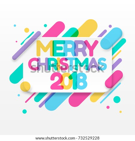 Merry christmas greeting card abstract colored stock vector hd merry christmas greeting card with abstract colored rounded shapes lines in diagonal rhythm for greeting m4hsunfo