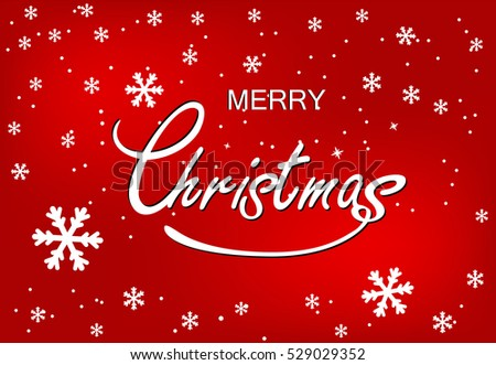 Merry christmas greeting postcard white snowflakes stock vector hd merry christmas greeting postcard white snowflakes and greeting words on red background m4hsunfo