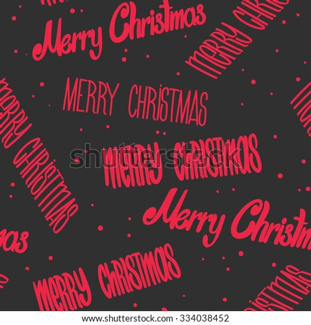 Merry Christmas hand lettering signature  - stock vector