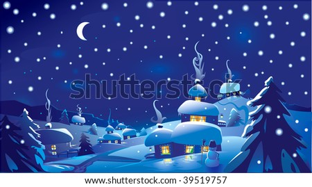 Merry Christmas! Happy New Year!!! - stock vector