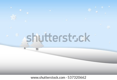 Merry Christmas, happy new year, winter, Landscape vector