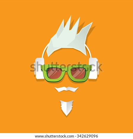 MERRY Christmas hipster poster for party or greeting card. Vector illustration. Santa Hipster Claus. vector merry christmas art design - stock vector