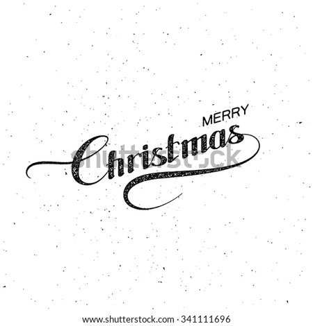 Merry Christmas. Holiday Vector Illustration. Lettering composition - stock vector