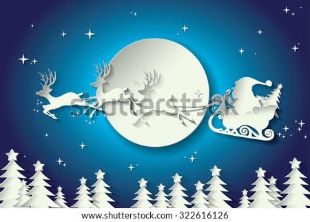 Merry Christmas holidays vector design - stock vector
