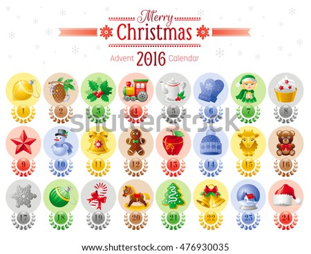 Merry Christmas Icon Set Xmas Icons Stock Vector Royalty Free