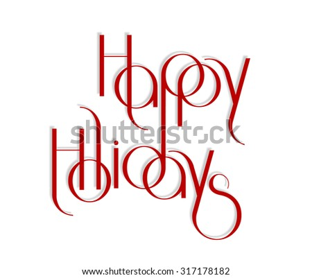 Merry Christmas interlaced lettering vector illustration eps 10 - stock vector