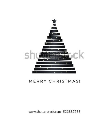 merry christmas minimalist style vector greeting stock vector
