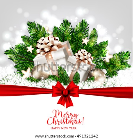 Merry christmas party invitation happy new stock vector royalty merry christmas party invitation and happy new year party invitation card christmas party poster holiday design stopboris Image collections