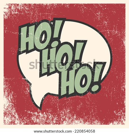 Merry Christmas Pop Art Card Illustration In Vector Format