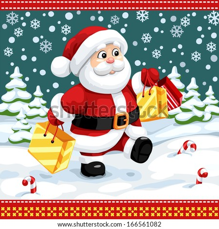 Merry Christmas Poster - stock vector