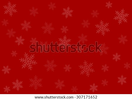 Merry Christmas red wrapping paper background with snowflakes - stock vector