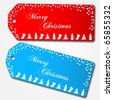 Merry Christmas Sale Tags - stock vector