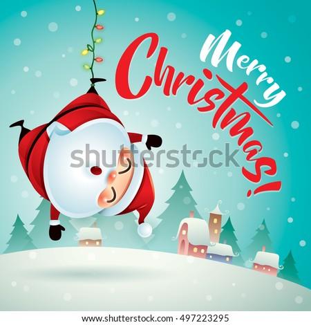 merry christmas santa claus christmas snow stock vector 497223295 shutterstock - Santa Claus Christmas