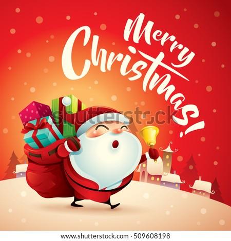 merry christmas santa claus christmas snow stock photo photo vector illustration 509608198 shutterstock - Santa Claus Christmas