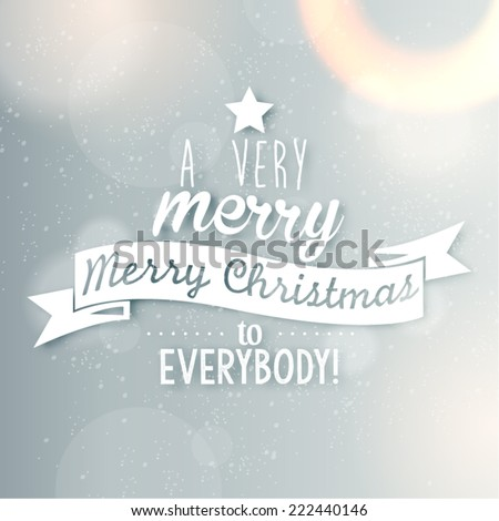Merry Christmas Season Greetings Quote Vector Design - stock vector