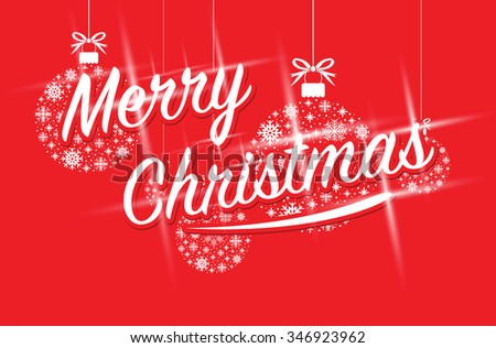 merry christmas sparkling text - stock vector