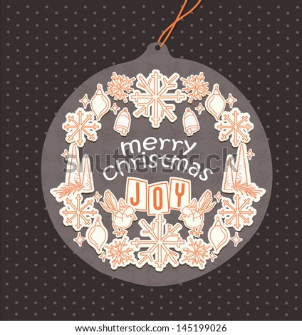 Merry Christmas Tag - stock vector