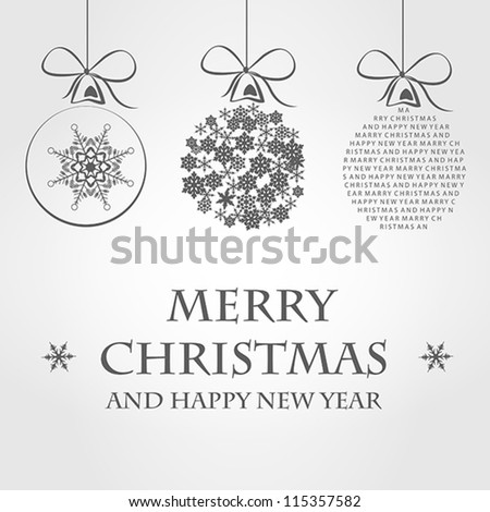 merry christmas template - stock vector