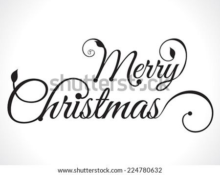 merry christmas text background vector illustration  - stock vector