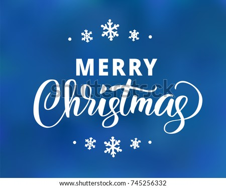 Merry christmas text holiday greetings quote stock vector hd holiday greetings quote hand drawn lettering on blue background great m4hsunfo