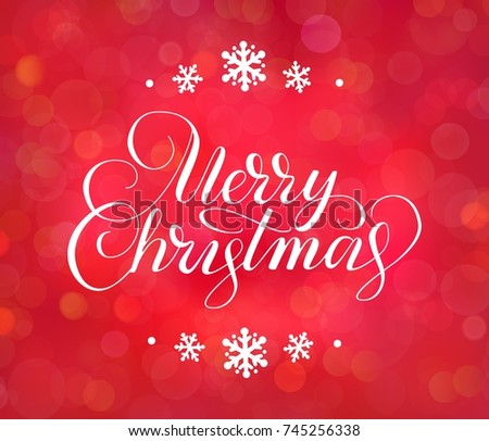 Merry christmas text holiday greetings quote stock vector 745256338 merry christmas text holiday greetings quote hand drawn lettering on red background great m4hsunfo