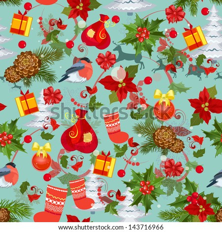 Merry Christmas texture seamless - stock vector