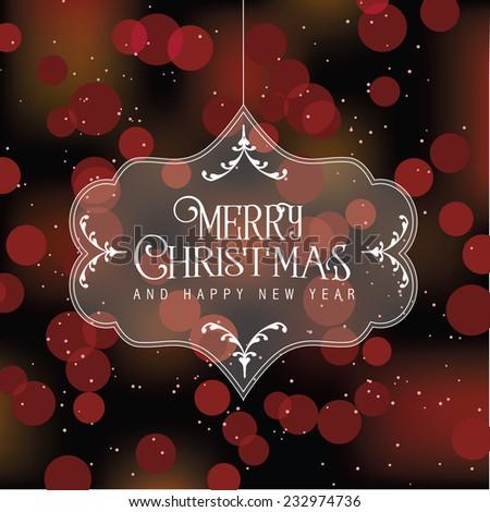 Merry Christmas translucent ornament EPS 10 vector illustration - stock vector
