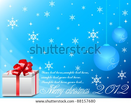 Merry Christmas Vector Background Set - stock vector