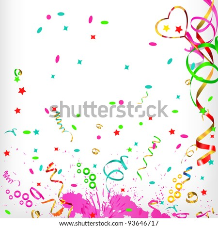 merry festive abstract background - stock vector