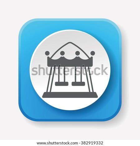 merry-go-round icon - stock vector
