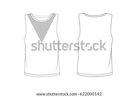Sleeveless stock images royalty free images vectors shutterstock mesh sleeveless t shirt template pronofoot35fo Image collections