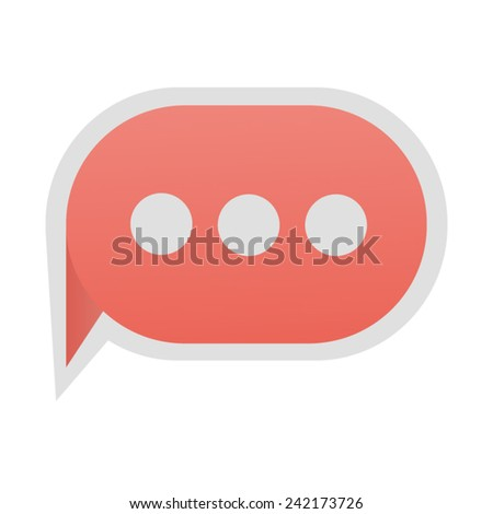 Message bubble flat vector - stock vector