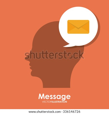 Message concept with envelope icon design, vector illustration 10 eps graphic.