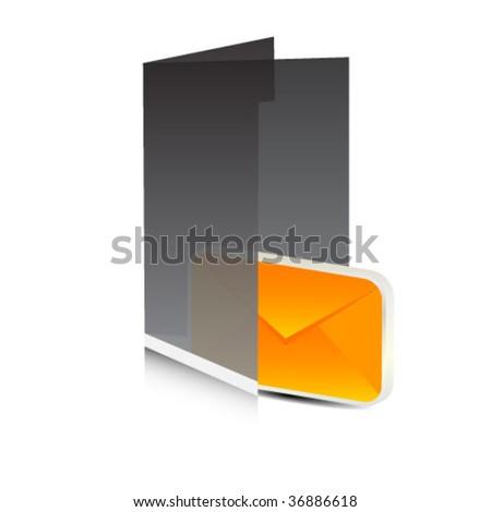 message folder - stock vector