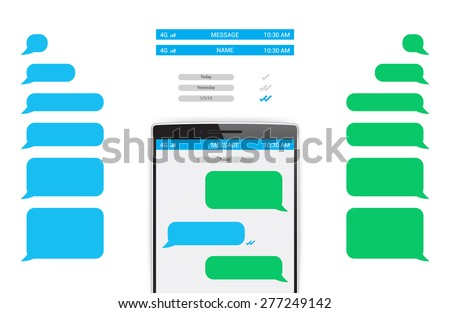 Text message stock images royalty free images vectors message phone template pronofoot35fo Images
