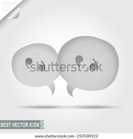 Message Pictograph, Chat icon, Speech bubbles, Discussion - vector illustration, you can change form and color - stock vector